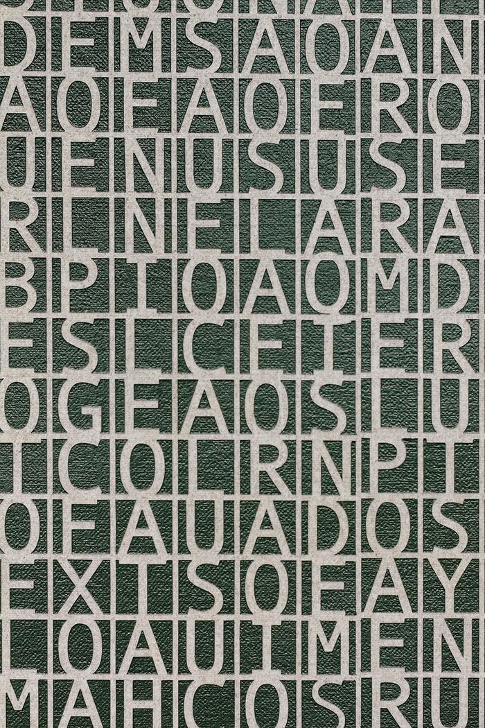 Desmantelando a Gorostiza (Poema frustrado) / Dismantling Gorostiza (Poema frustrado)  , 2017  Acrílico sobre lino / Acrylic on linen  121.7 x 152.3 cm  Detalle / detail