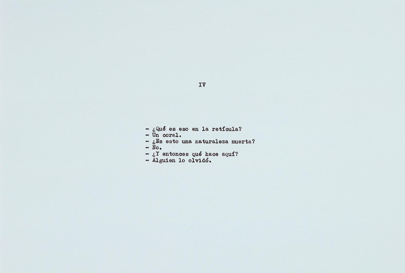 Diálogo sobre un poeta, una manzana y una retícula (Parte dos) I / Dialogue about a Poet, an Apple. and a Grid (Part two) I, 2019  Tinta sobre papel / Ink on paper  Políptico de 10 piezas de 37.5 cm x 27.5 cm / 10 piece polyptych, 37.5 cm x 27.5 cm each   Detalle / Detail    Fotografía: Estudio Jorge Mendez Blake