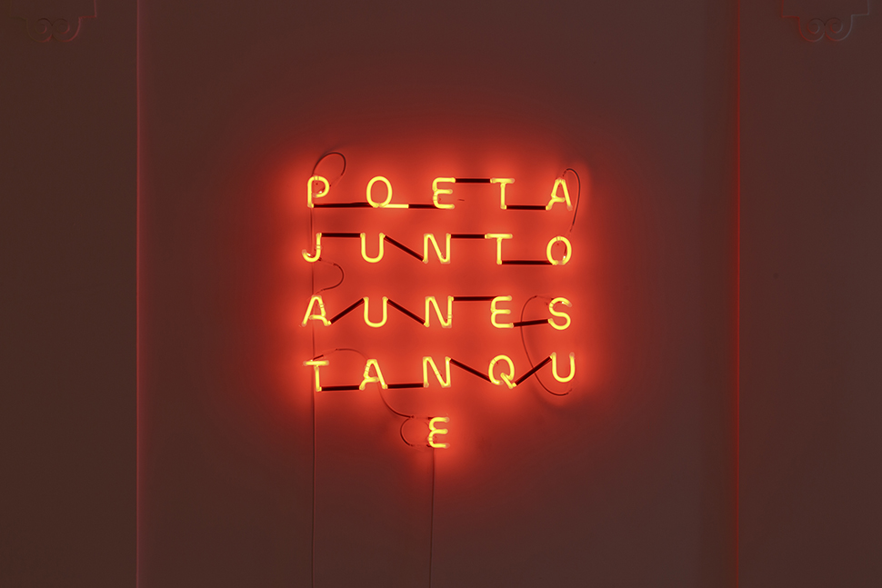 Poeta junto a un estanque / Poet by the Pond  , 2019   Neón / Neon  64 x 64 x 7 cm
