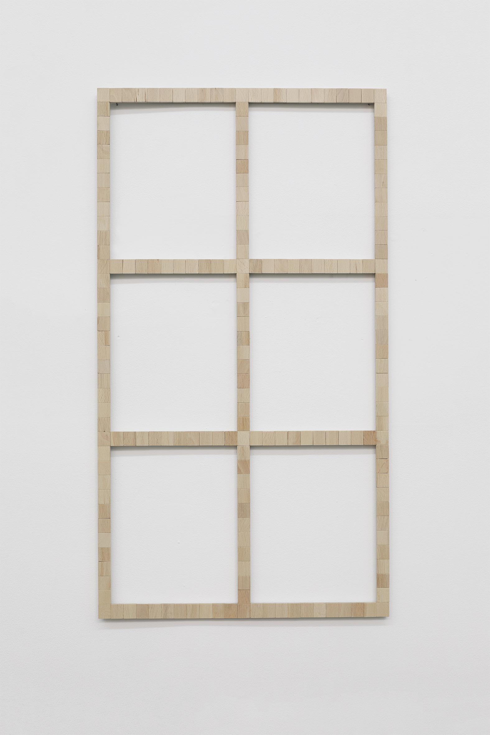 Word-Window (Universitatstrasse 29)  , 2019  Fichas de scrabble / Scrabble tiles  74 x 42.5 cm