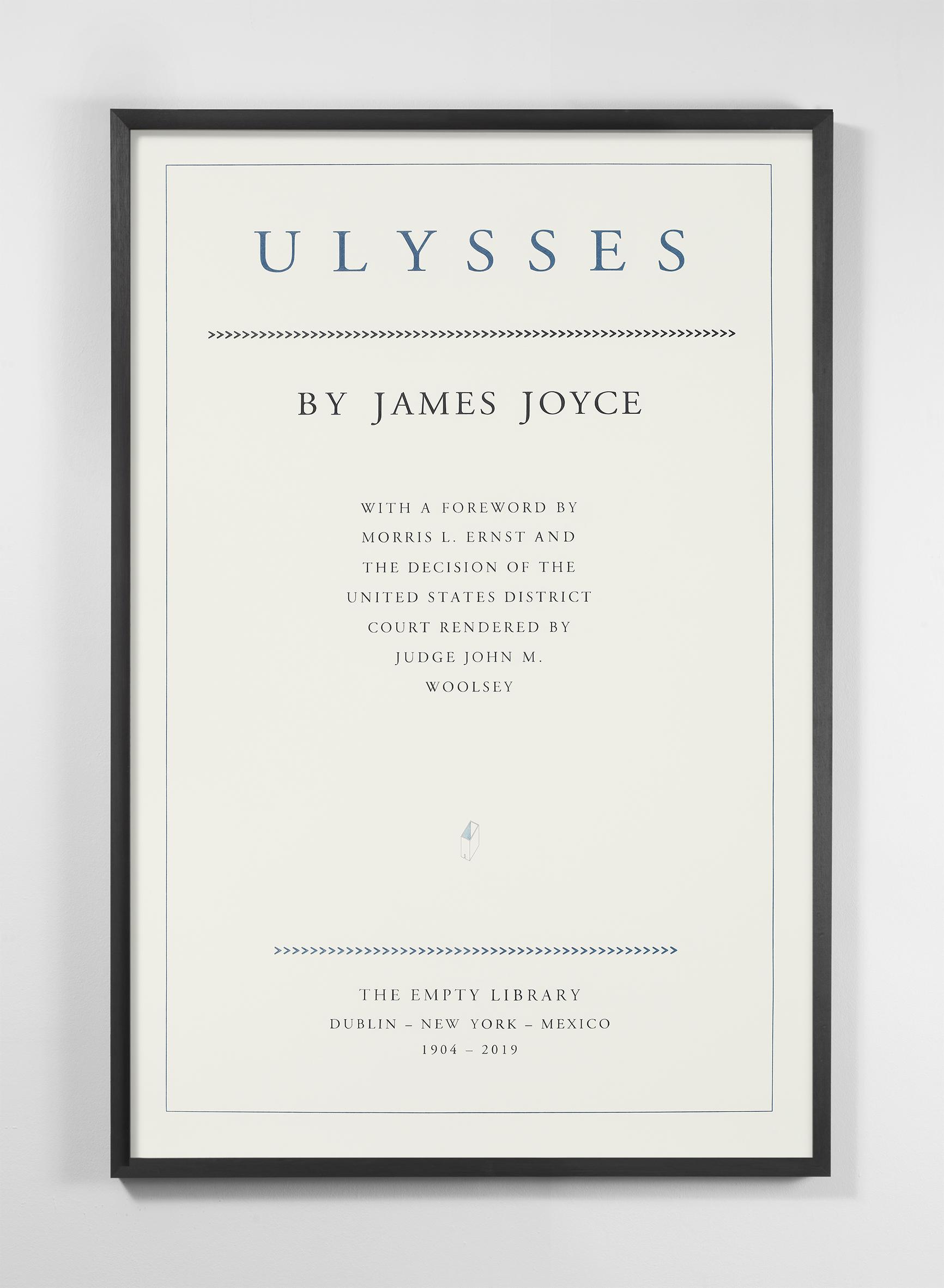 James Joyce. Ulysses. 1904-2019 , 2019  Lápiz y lápiz de color sobre papel de algodón / Pencil and colored pencil on cotton paper  150 x 100 cm