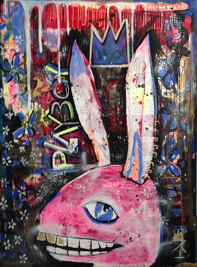 Pink Bunny 3' x 4'