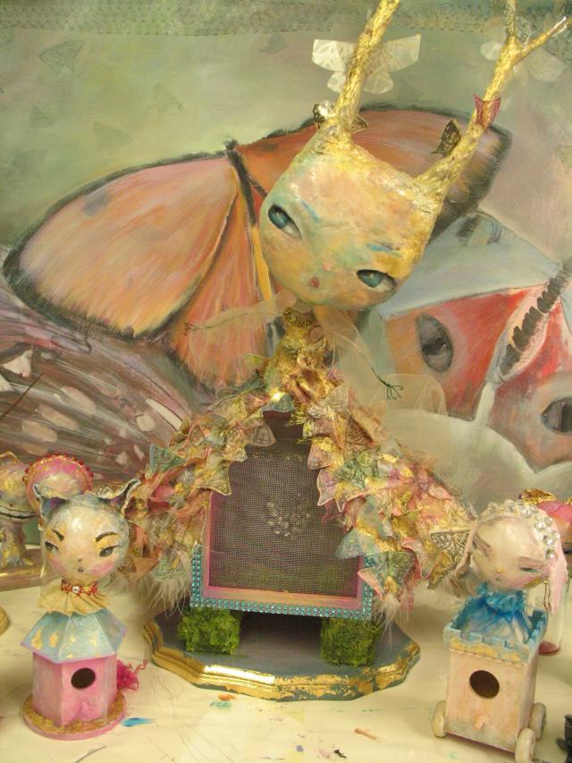 Butterfly Queen window for Mindfulnest Burbank, CA
