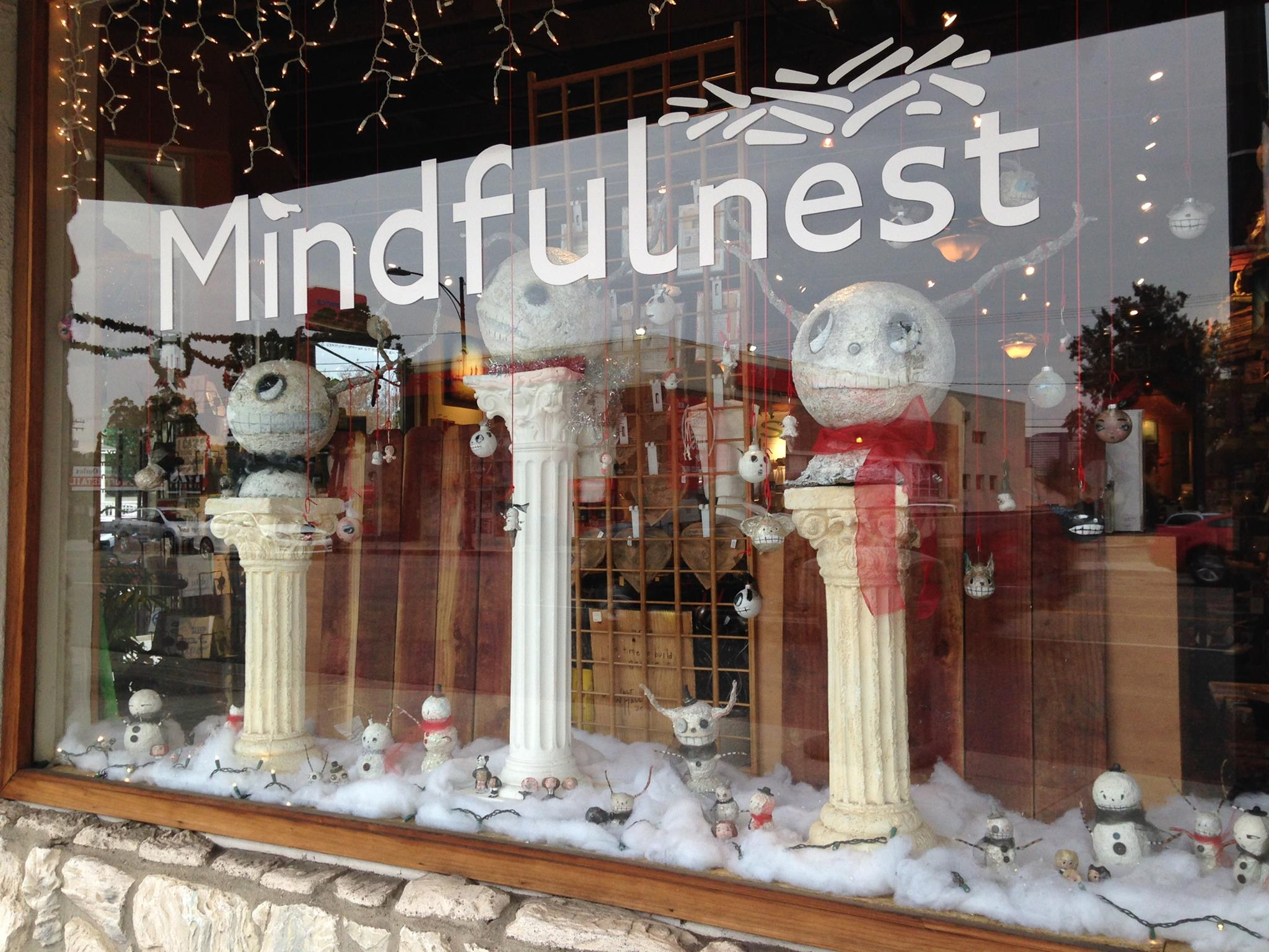 Snowheads window for Mindfulnest Burbank, CA