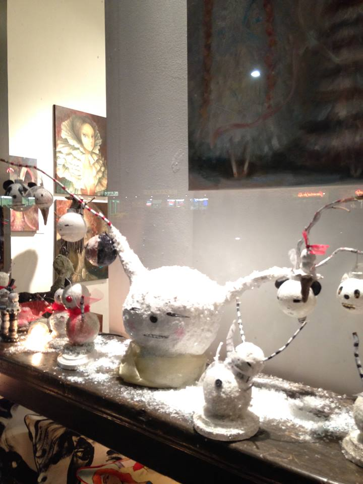 Snowheads window for Rebecca Molayem Gallery Los Angeles, CA