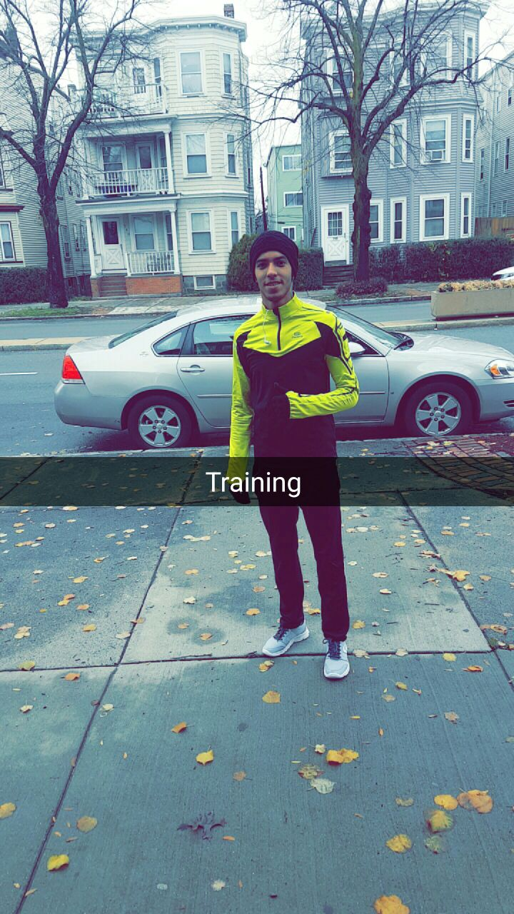 A champion sprinter in morocco, mehdi is continuing his training in boston