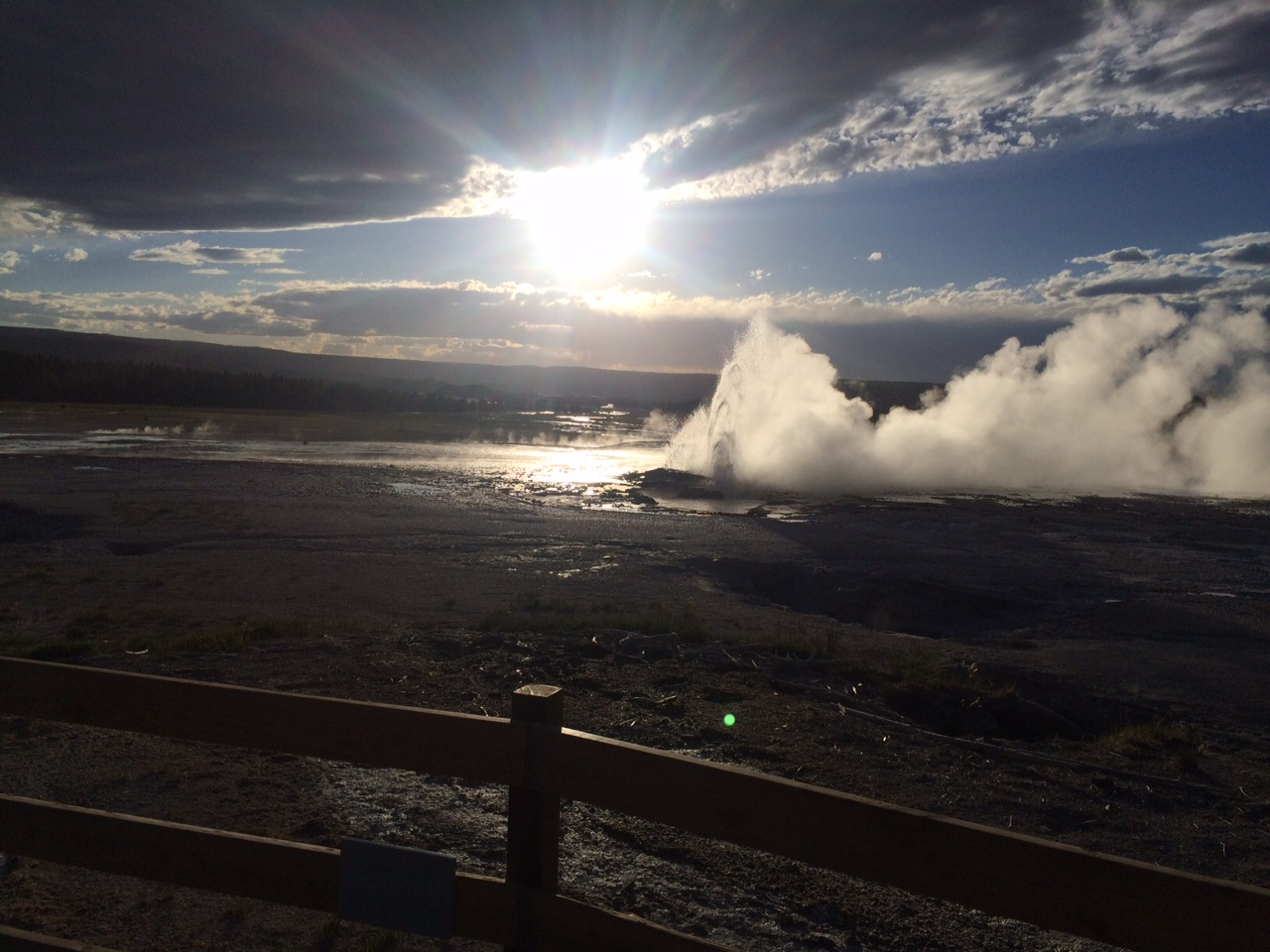 Here is one of the smaller geysers in Yellowstone National Park.