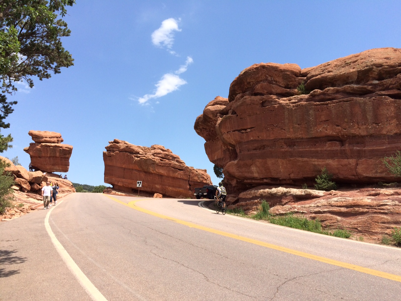 Here are a couple balancing rock formations in the Garden of the Gods.