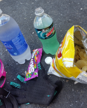 I love gas station snack time on big rides - so many delicious things!