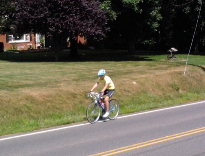 Yep, this is me in 2009. No idea about bike fit, or even jerseys. Just loved riding my bike :)