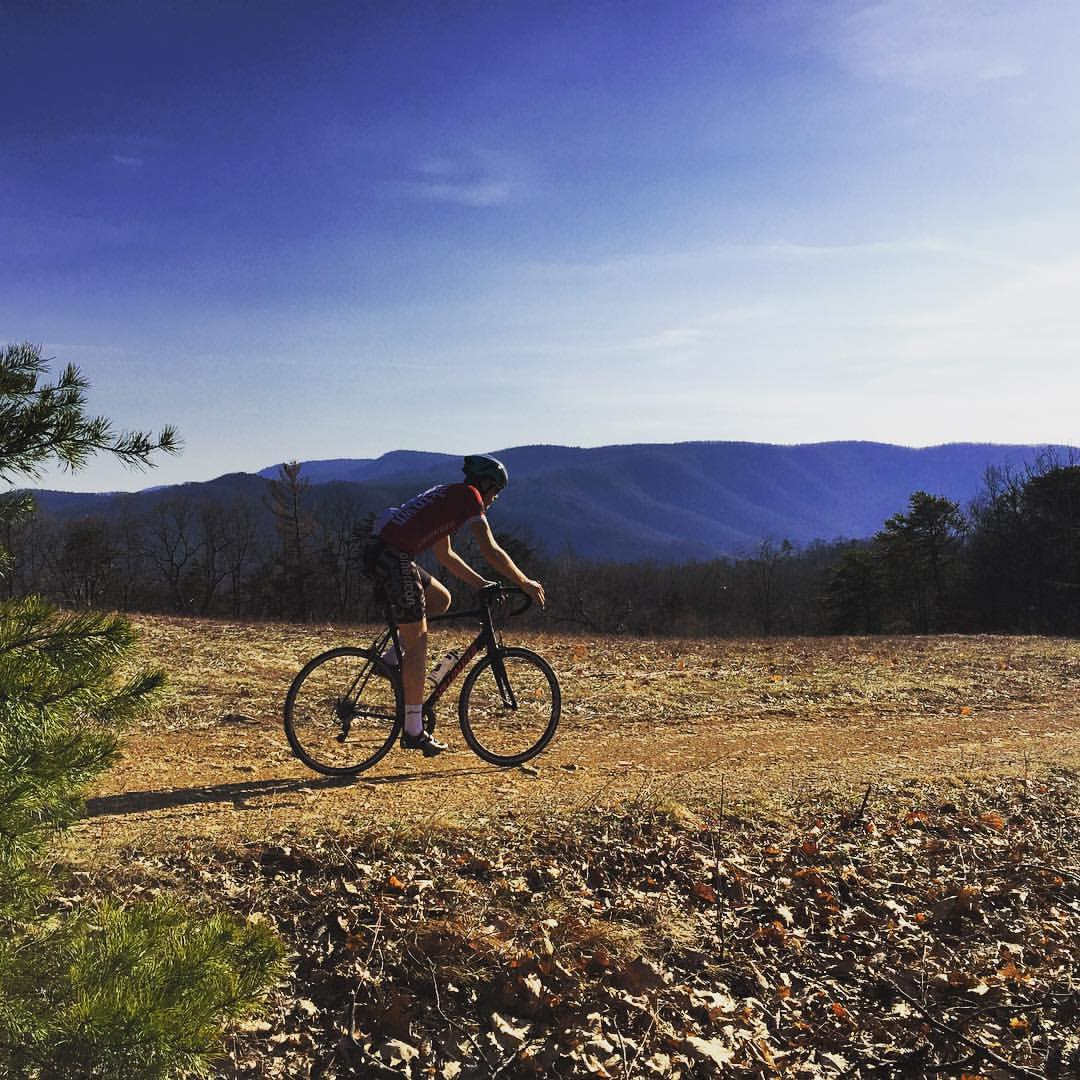 Exploring northwest Rockingham County with Chris Scott (Shenandoah Mountain Touring.) Photo by Chris Scott!
