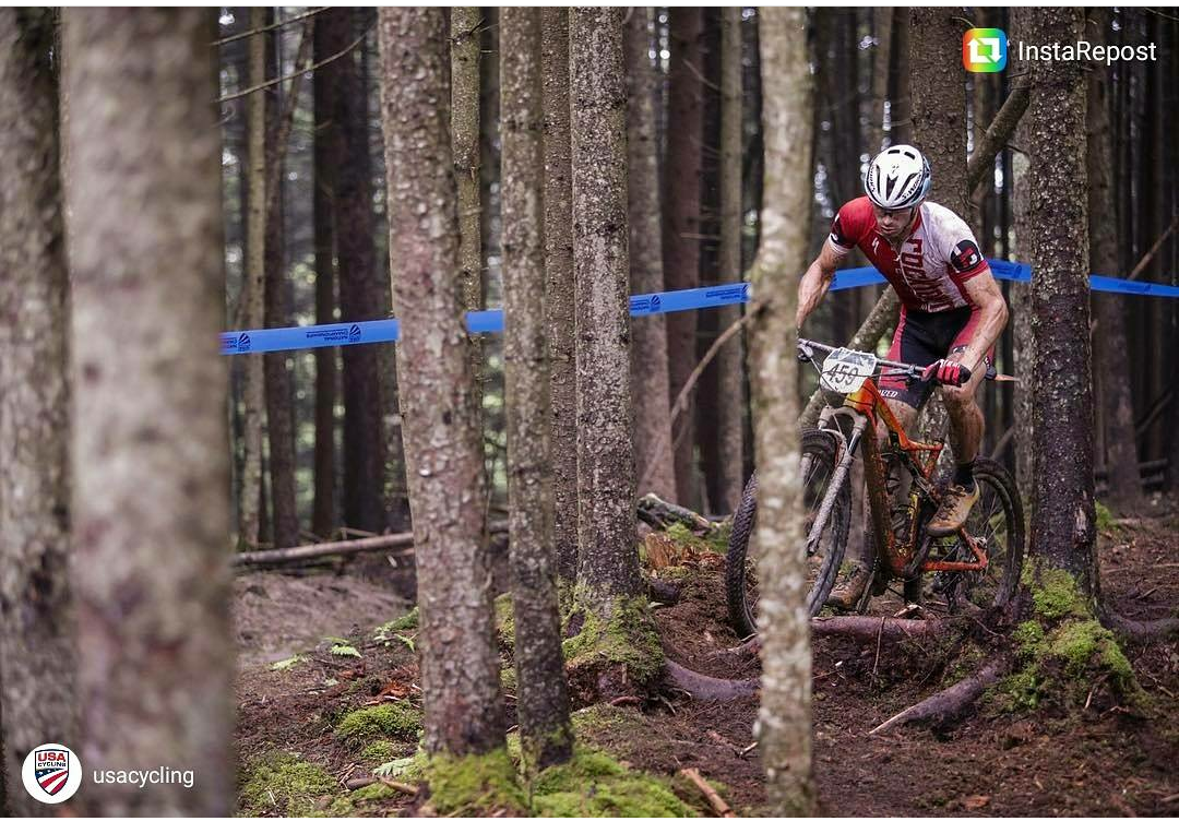 Riding the roots in the XC race