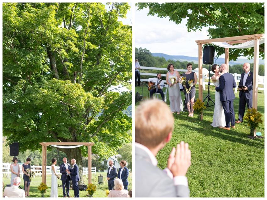 wedding ceremony at stone tavern farm