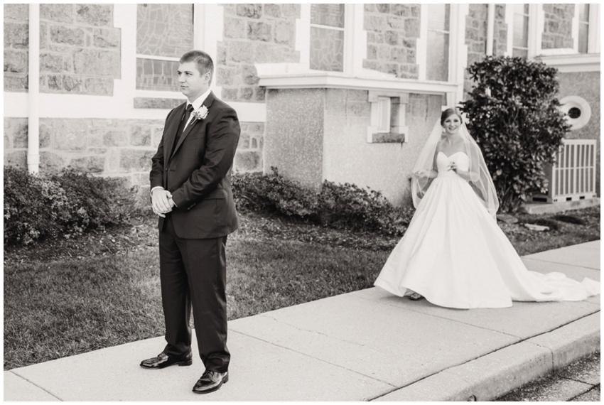 baltimore wedding first look at church
