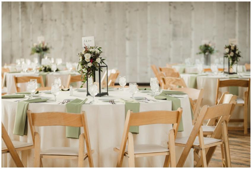 accelerator space wedding reception tablescape