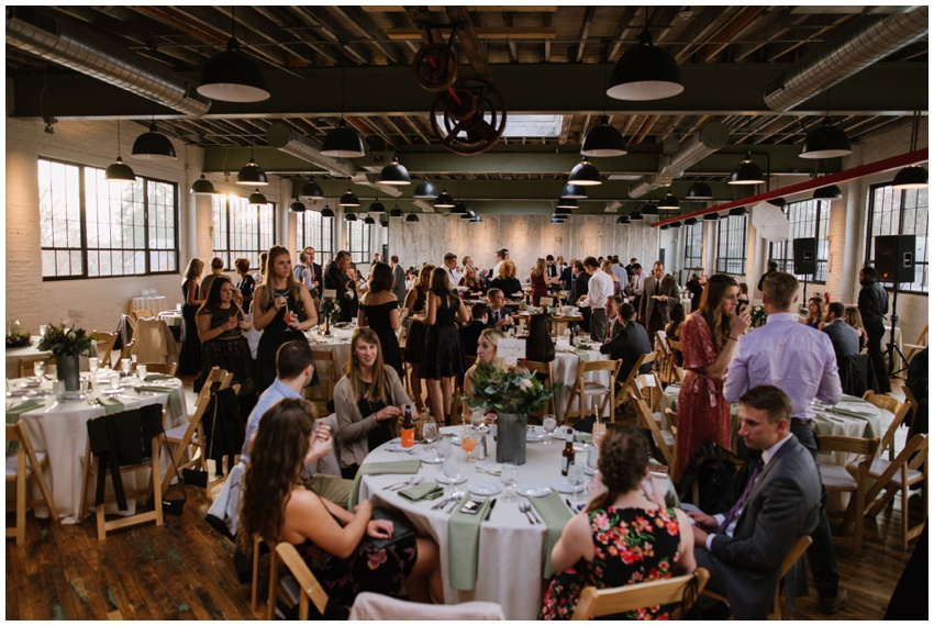 wedding reception at accelerator space