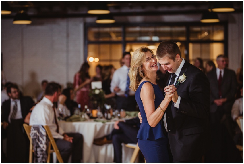mother of the groom dance at accelerator space wedding venue