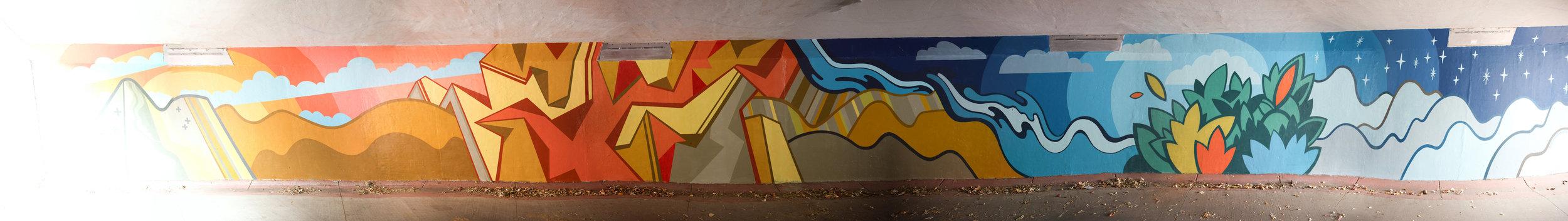 David Polka mural @ Moorhead underpass on the Bear Creek Bike Path. 2017 Boulder, CO