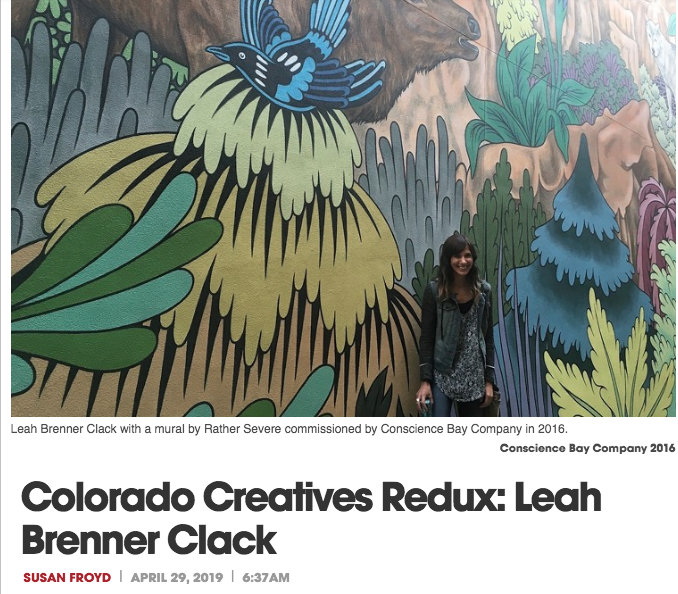 Through her  And Art Space  consultancy, Leah Brenner Clack has become the go-to Boulderite for matching walls with muralists, but her enthusiasm for decorative street art goes beyond the boundaries of consulting. Brenner Clack works double time as an advocate and community-builder who matches students with mural-making opportunities and brings neighbors together in beautification projects, all while serving as a public-art liaison with the City of Boulder.