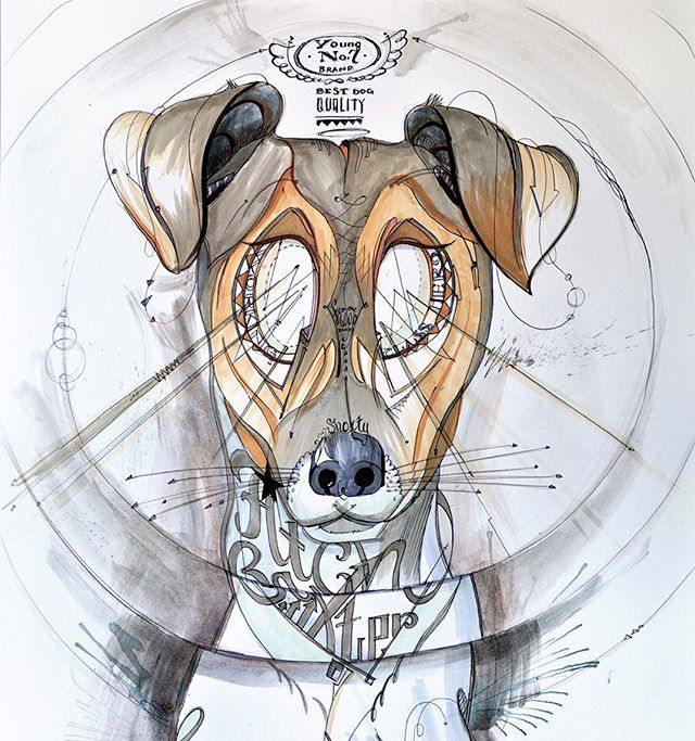 Fitch the #dog // 48x35cm #acrylicpainting and #copicmarkers  on #paper // #TomLohner #popsurrealism #artbasel #contemporaryart #newcontemporary #newcontemporaryart #contemporaryartist #dogpainting #contemporarypainting #contemporaryart #fineart #popculture #popstyle #urbanculture #urbanstyle #artoftheday #artoninstagram #igersaustria #art_spotlight #artlovers #austria #hifructose #juxtapoz  #lowbrowpopsurrealists #portraitart #beautifulbizarremagazine