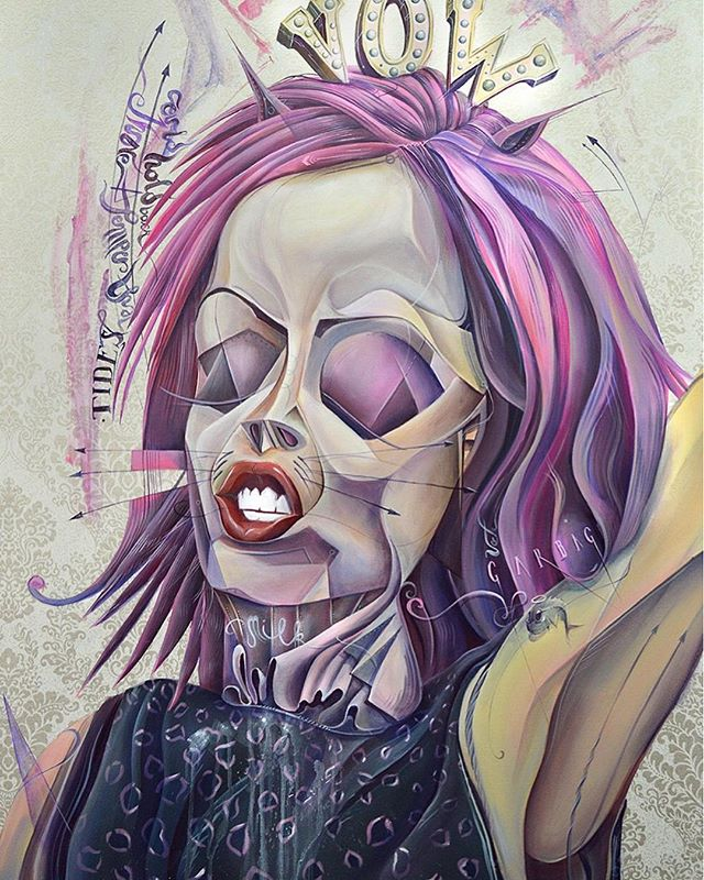 My #interpretation of #ShirleyManson of @garbage // watch video explaining #artpiece on IGTV // #TomLohner #popsurrealism #artbasel #contemporaryart #newcontemporary #newcontemporaryart #contemporaryartist #acrylicpainting #contemporarypainting #contemporaryart #fineart #popculture #popstyle #urbanculture #heavymetalmagazinecontestentry  #igersaustria #art_spotlight #artlovers #austria #hifructose #juxtapoz  #lowbrowpopsurrealists #portraitart #beautifulbizarremagazine
