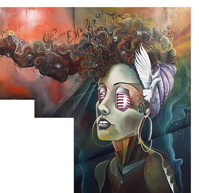 My version of #aliciakeys part of my current mega #artwork // #TomLohner #popsurrealism #artbasel #contemporaryart #newcontemporary #newcontemporaryart #contemporaryartist #acrylicpainting #contemporarypainting #contemporaryart #fineart #popculture #popstyle #urbanculture #urbanstyle #artoftheday #artoninstagram #igersaustria #art_spotlight #artlovers #austria #hifructose #juxtapoz  #lowbrowpopsurrealists #portraitart #beautifulbizarremagazine