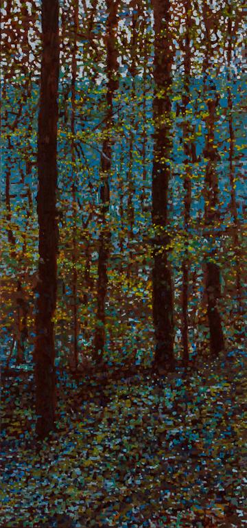 """Spring Scene, Oil on Linen, 18"""" x 38"""", 2014"""
