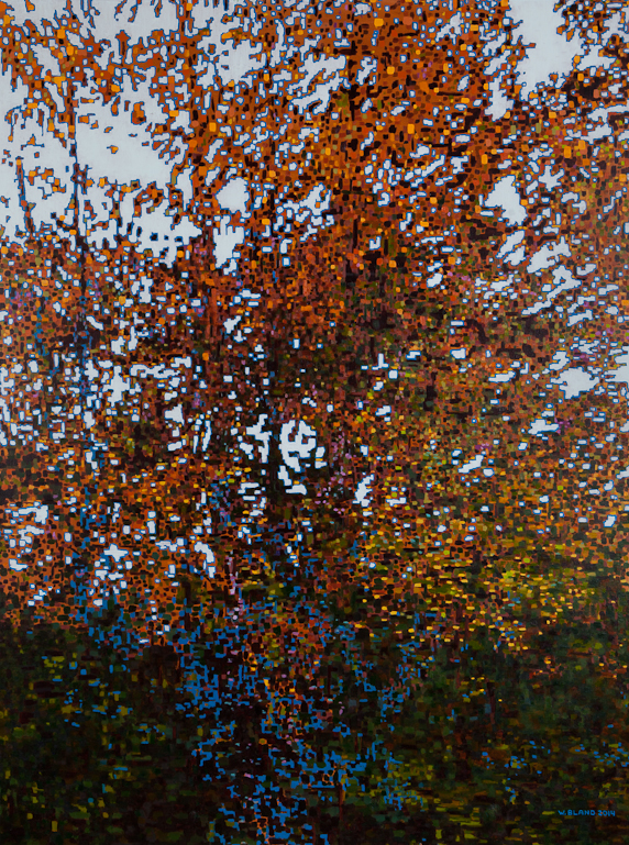 "Fall Pixelated, Oil on Linen, 36"" x 48"", 2015"