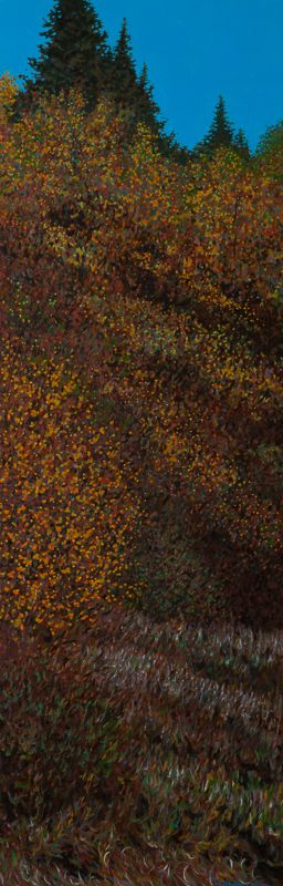 "Autumn II, Oil on Linen, 12"" x 36"", 2014"