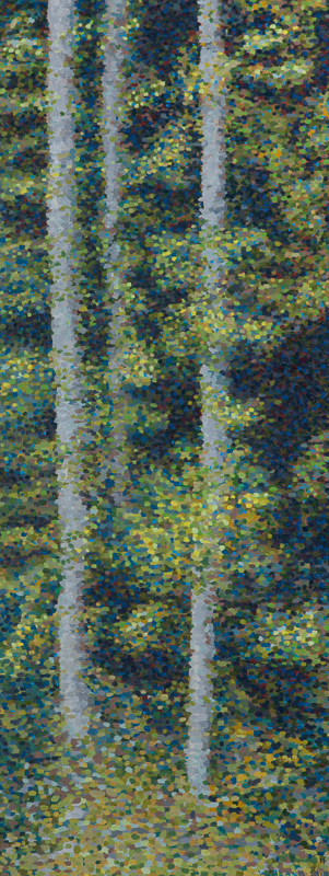 "Compressed Forest III, Oil on Linen, 15"" x 38"", 2010"