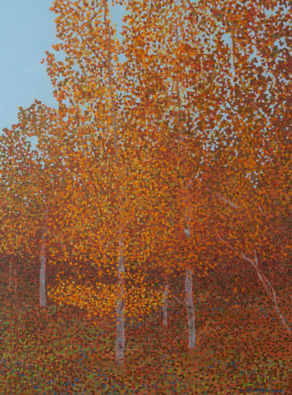 "Fall Scene IV, Oil on Linen, 25"" x 33"", 2010"