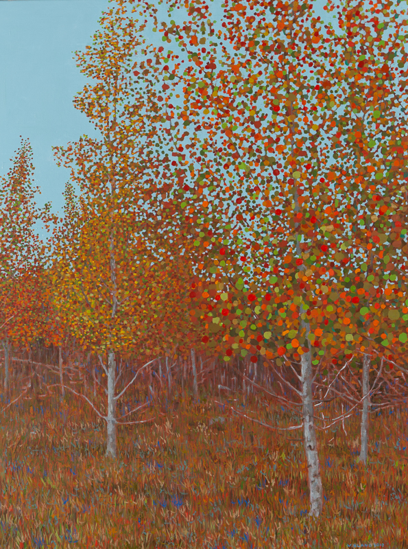 "Fall Scene II, Oil on Linen, 30"" x 40"", 2010"