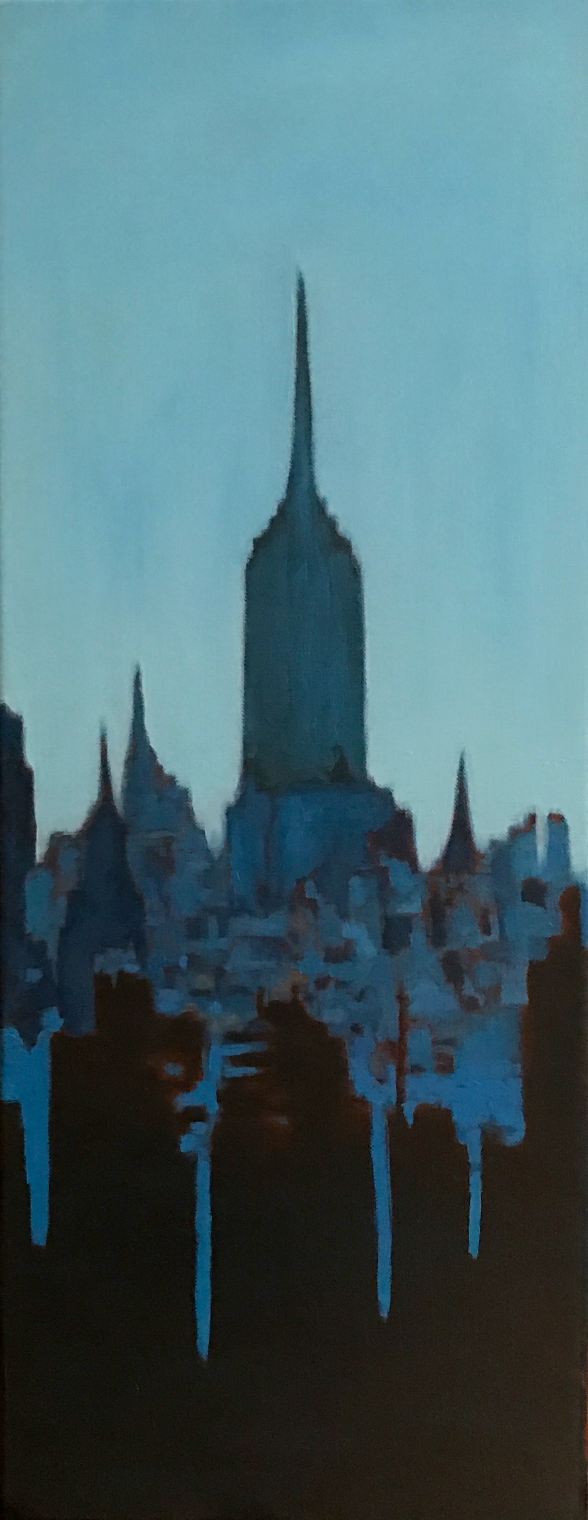 "Empire State, Oil on Linen, 8"" x 20"", 2015"
