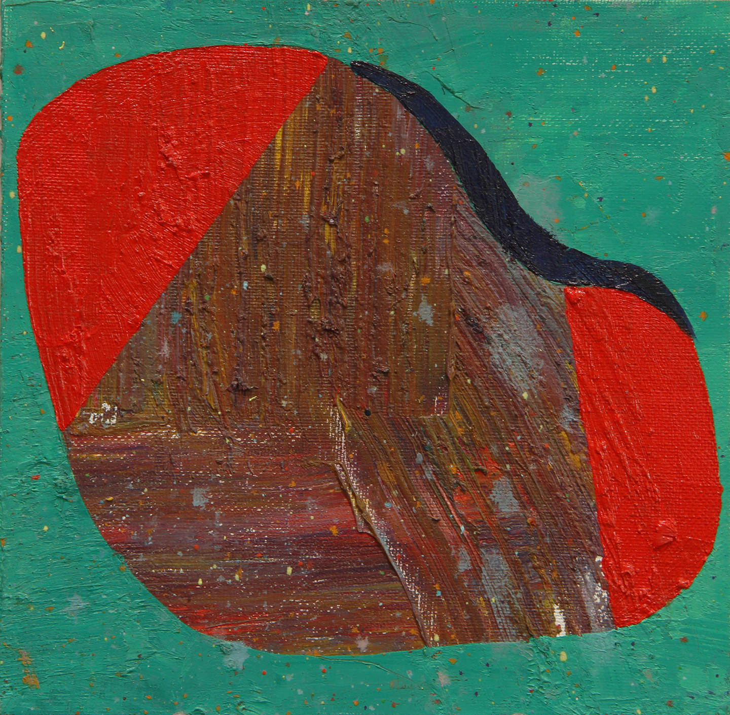 "oil on canvas panel 8x8"" 2014"