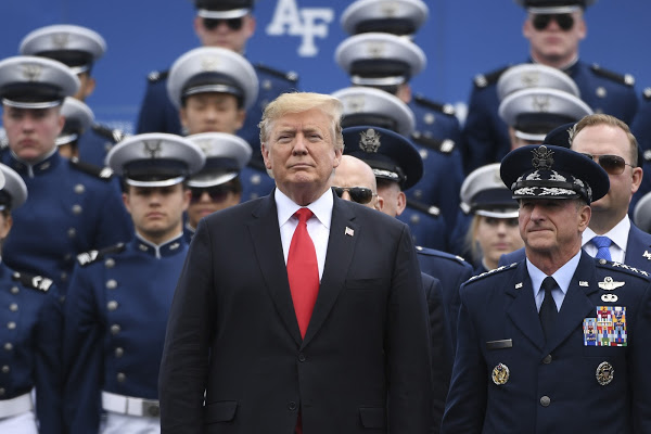 2019 Air Force Graduation with President Trump
