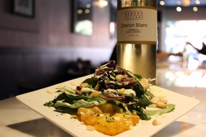 salad with bottle of wine.jpg