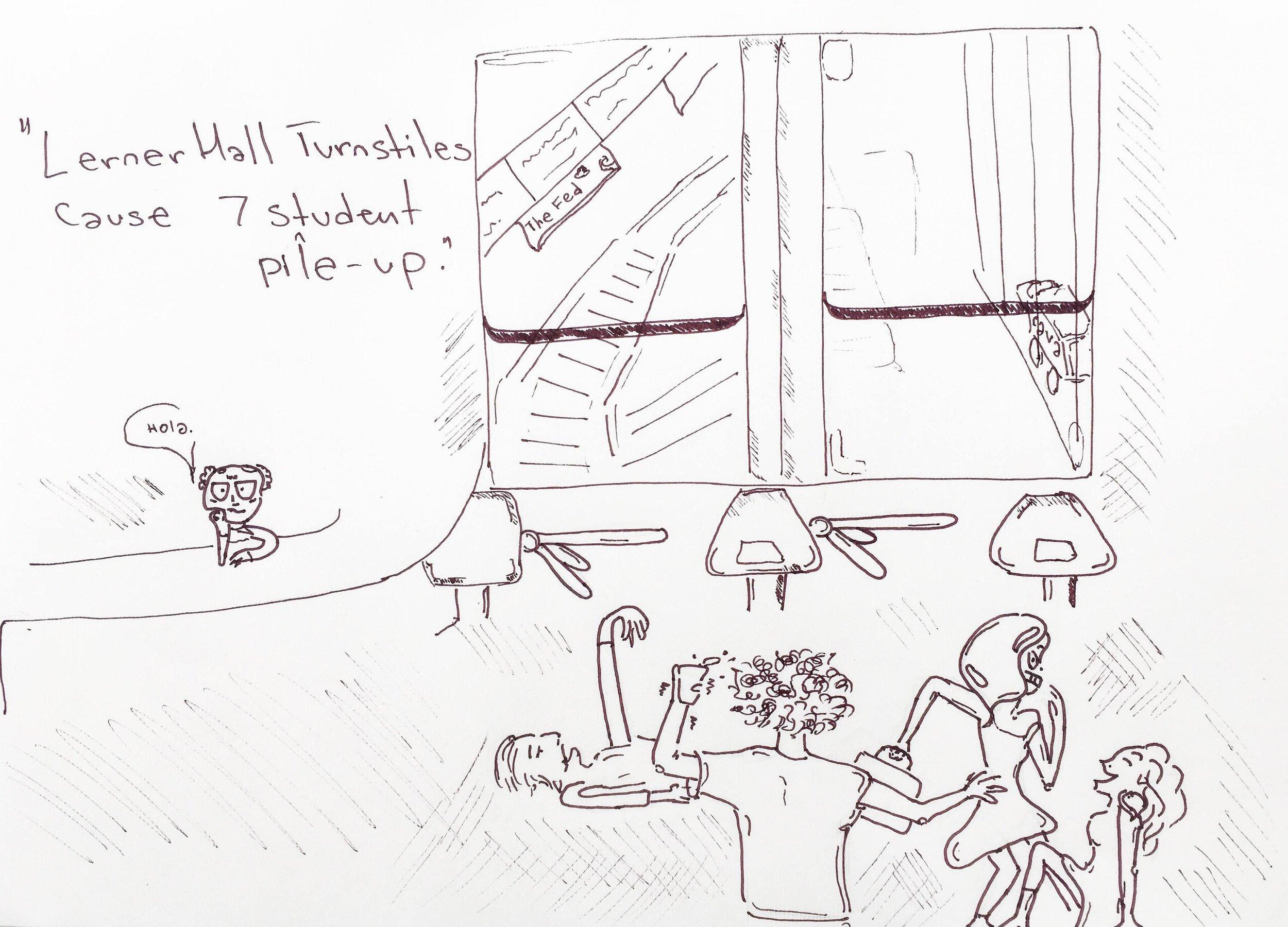 An artist's rendering of the scene
