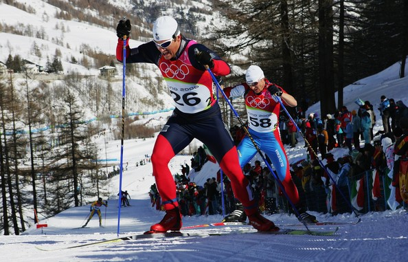 Cross Country Skier Going Uphill Feels Rather Silly