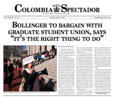 The 2018 Colombia Daily Spectador