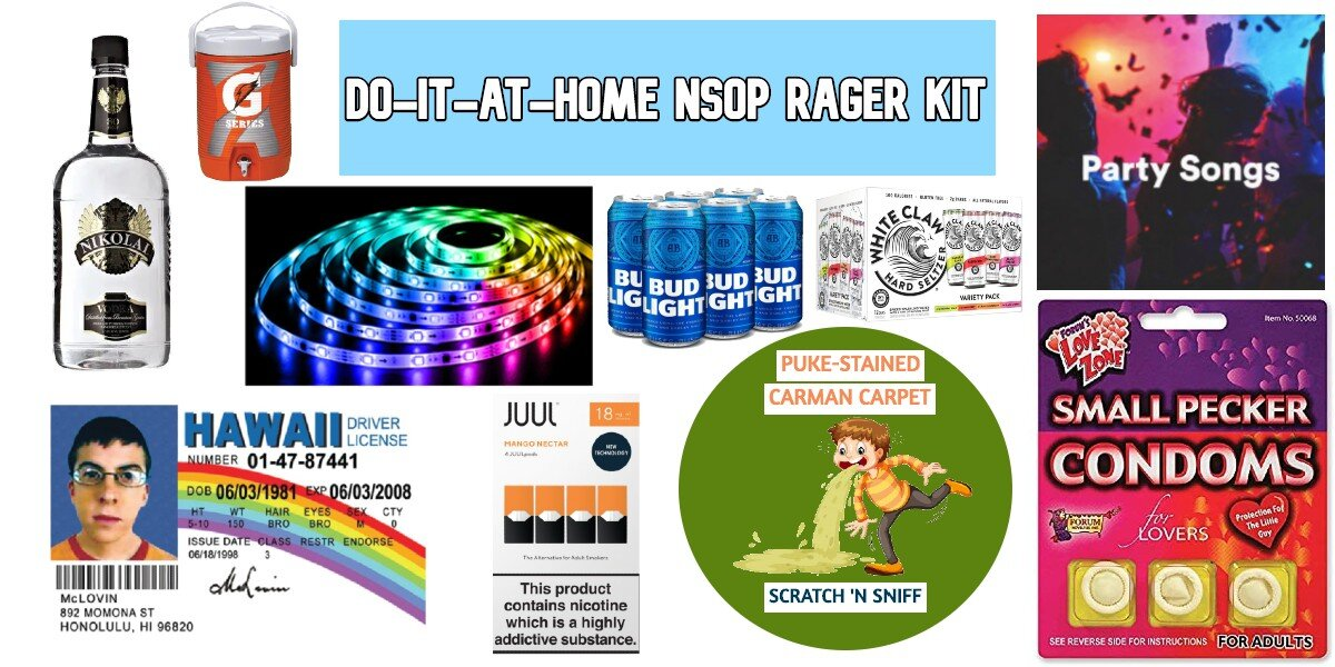 """Office of Undergraduate Student Life Unveils Plans to Ship """"Do-it-at-home NSOP Rager"""" Kits to All Incoming First-Years"""