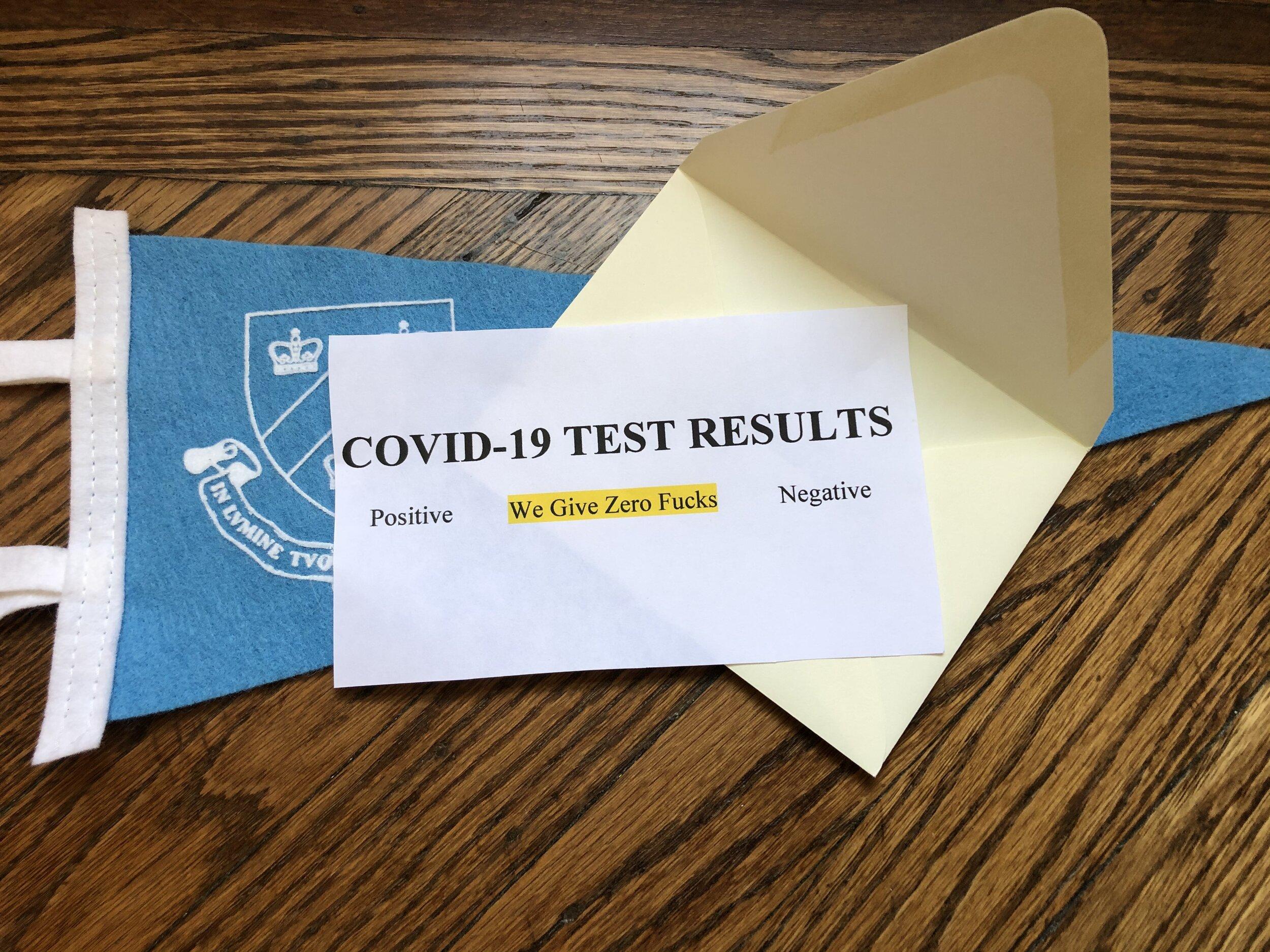Columbia Denies Barnard Students Testing, Citing Shortage of Fucks to Give