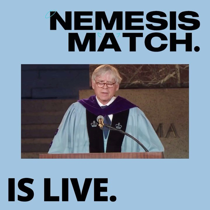 NemesisMatch is LIVE! Link in bio. It can also be found on our website at www.columbiafederalist.com/NemesisMatch. Let the games begin! 😇😈 It's time 💔 keep your friends close, but your nemesis closer.