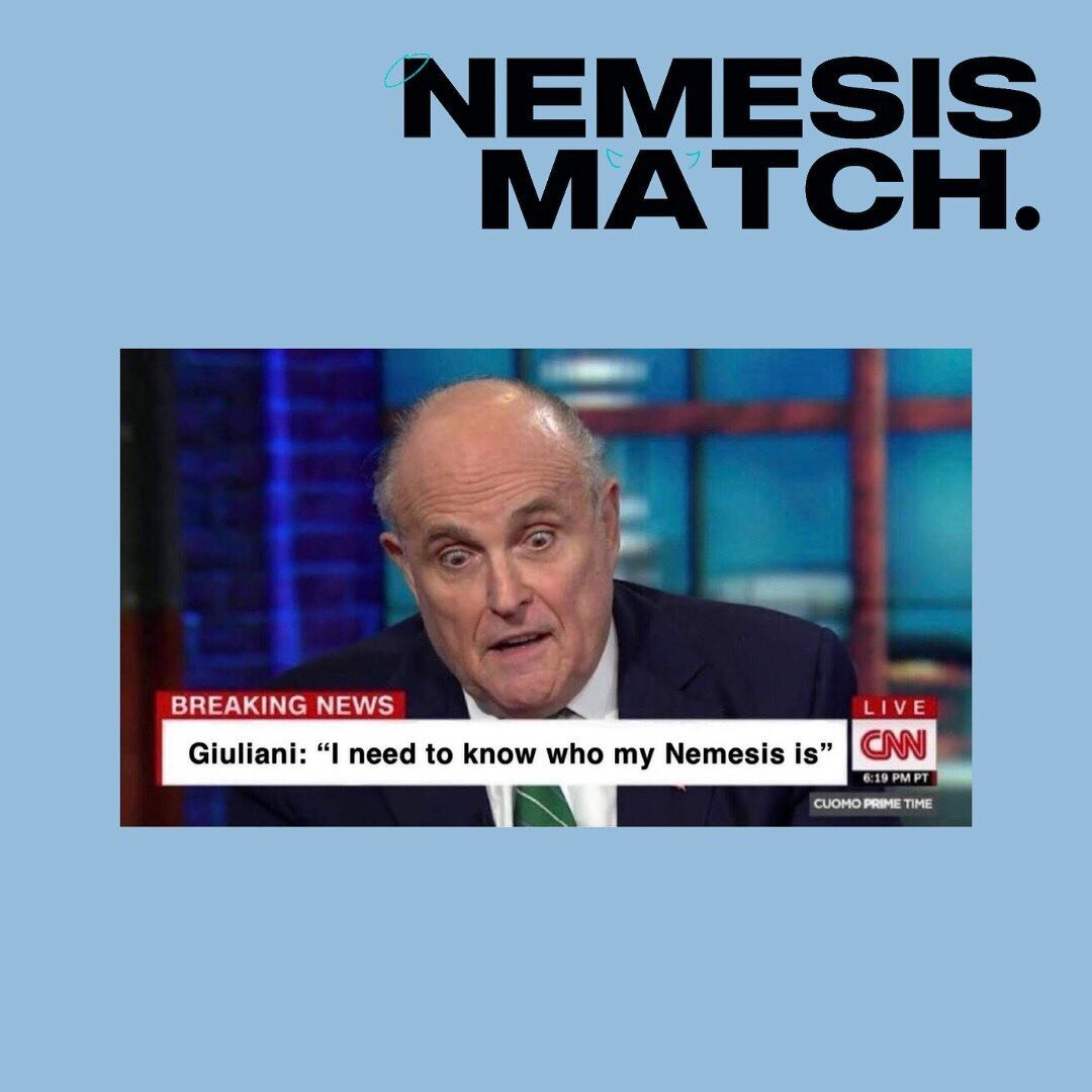 You have 12 hours left to send this to all of your nemesis!!! Make sure to complete NemesisMatch before the jig is up at midnight tonight!