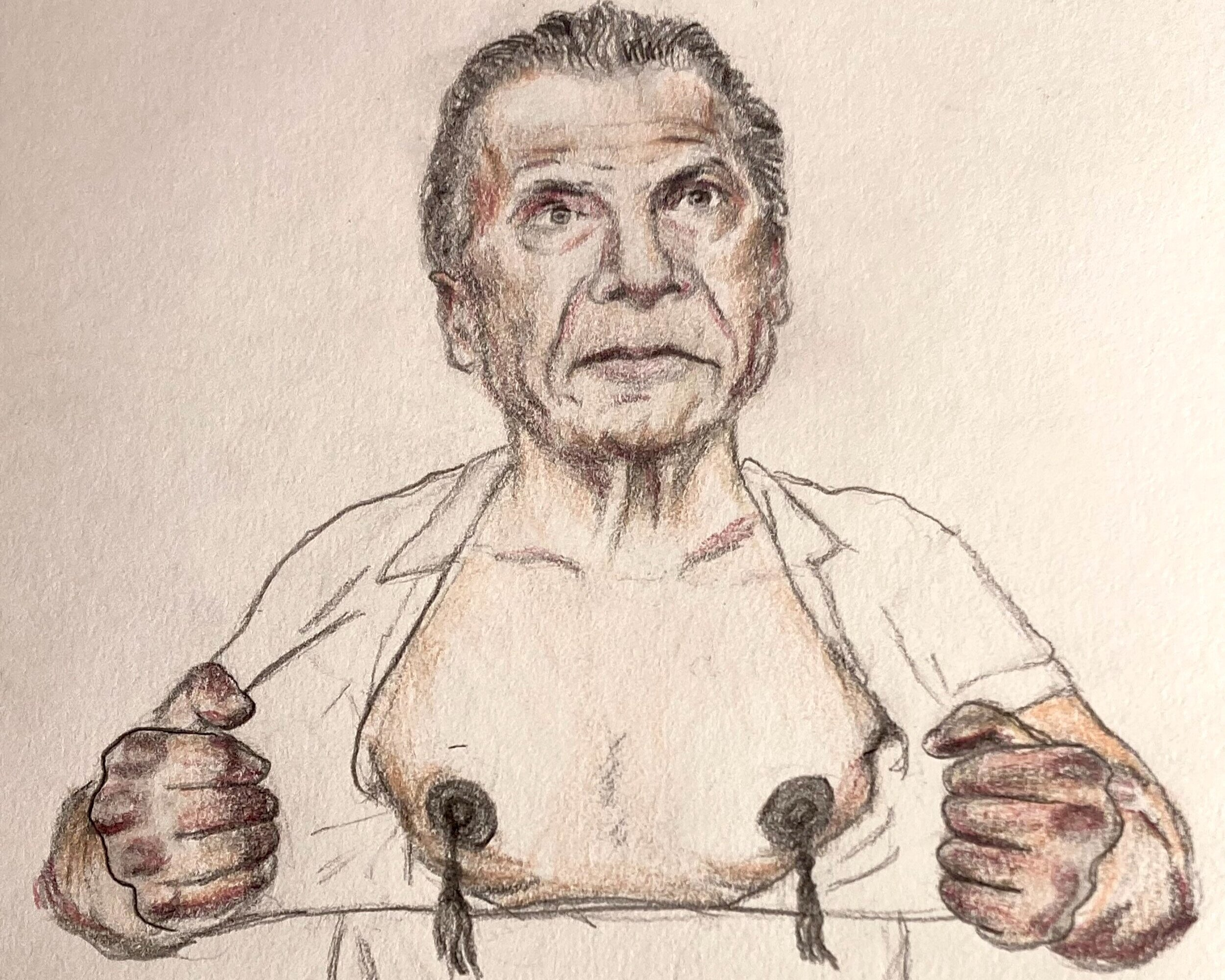 Andrew Cuomo Insists That His Nipples Are Not Pierced, Just Very Hard - by Ref R. Tyrant