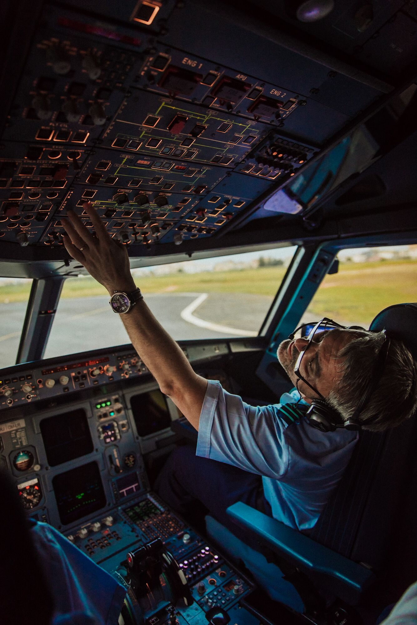 Pilot in action