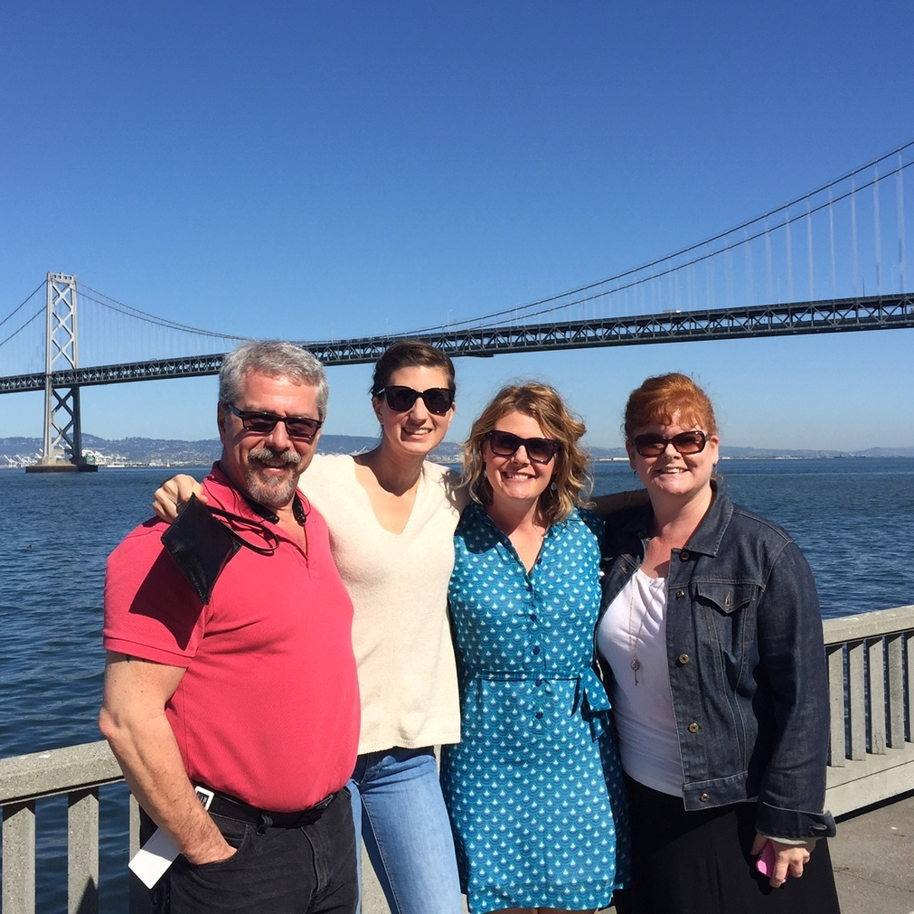 Doc (our Agile Coach), Tannis, Kaitlin and Laura on a walk outside our office. (2015)