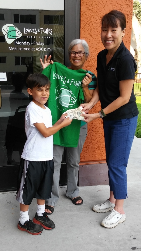 Isaac donates his allowance to feed the hungry