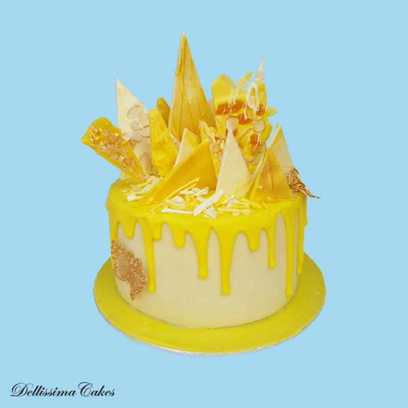 Lemon Drip Celebration Cake