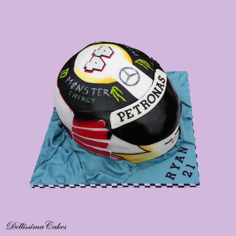 Lewis Hamilton Helmet Cake