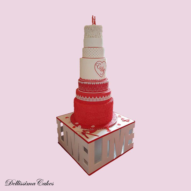 7 Tier Wedding Cake